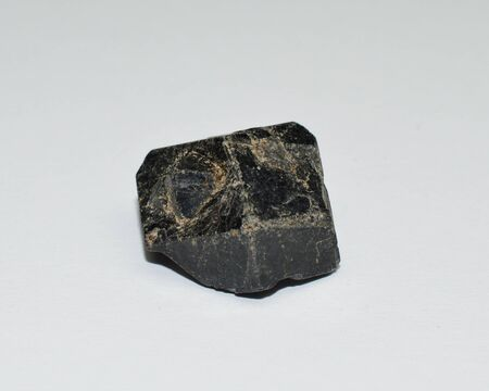 Mali garnet stone on white 스톡 콘텐츠 - 136683173