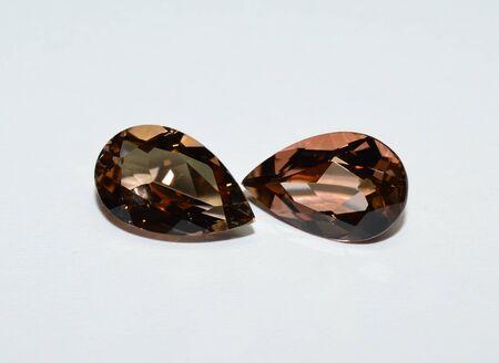 Tourmaline gemstones faceted
