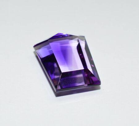 Amethyst gemstone faceted