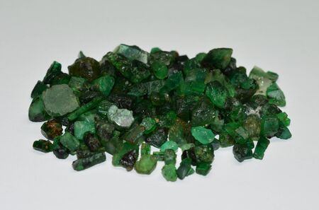 Emerald gemstones raw
