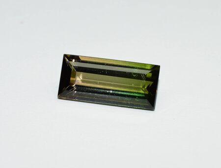 Green tourmaline gemstone faceted Stockfoto