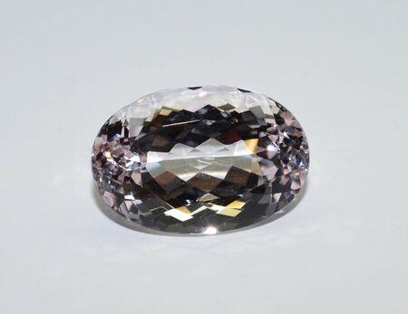 Morganite beryl gemstone faceted Stock Photo