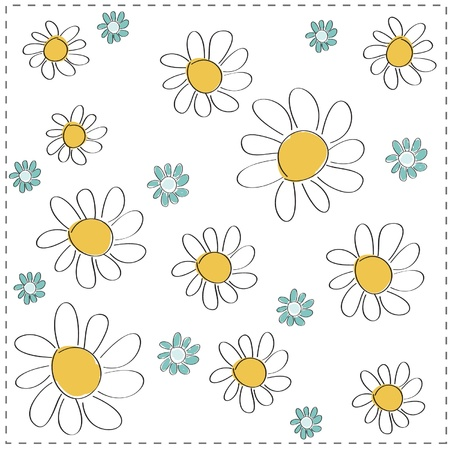 Nice vector background with flowers