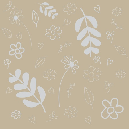 Nice abstract vector background with flowers  Illustration