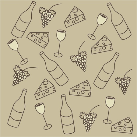 Nice vector background set of vine theme