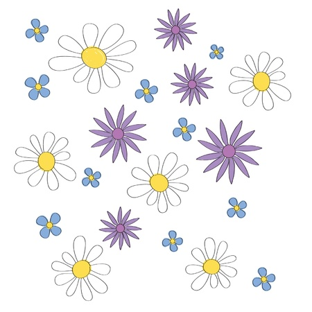 Simple but nice vector background of flowers Illustration