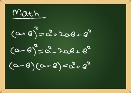 vector blackboard with math formuls Vector