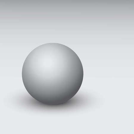 Illustration of vector gray 3d sphere Illustration