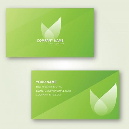visit card: template design of fresh dreen visit card Illustration