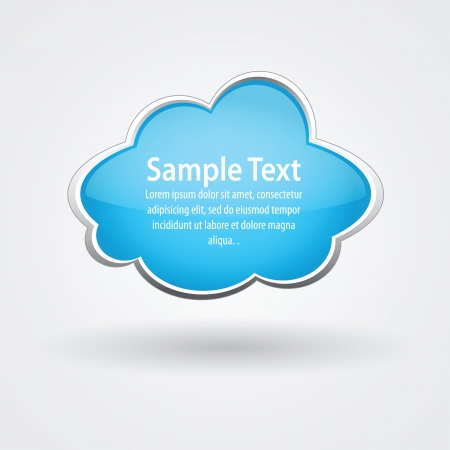 Nce vector glossy cloud for some text Illustration