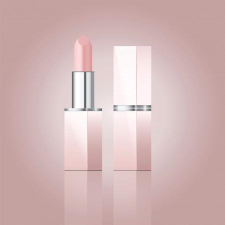 illustration of pink lipstick