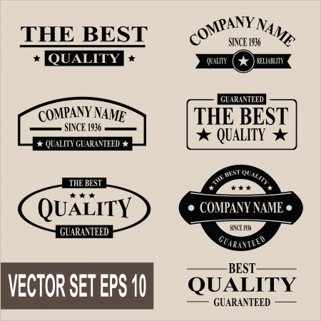 Vector set of vintage quality garanteed labels Illustration