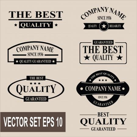 Vector set of vintage quality garanteed labels Illustration
