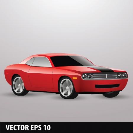 red american car