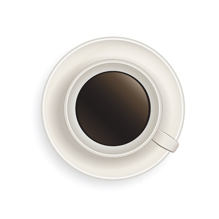 Realistic illustration of coffee cup