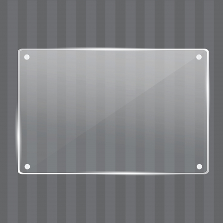 Elegant realistic glass frame