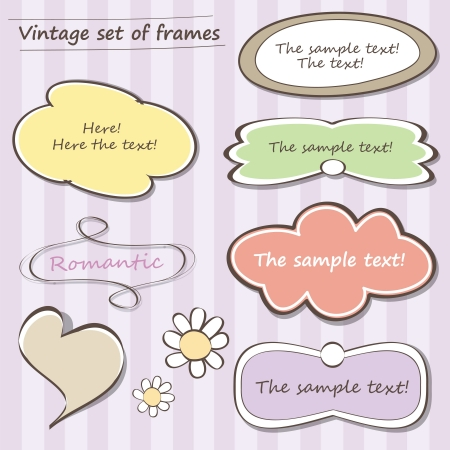 Vintage set of frames