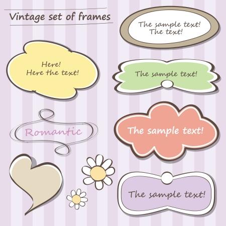Vintage set of frames