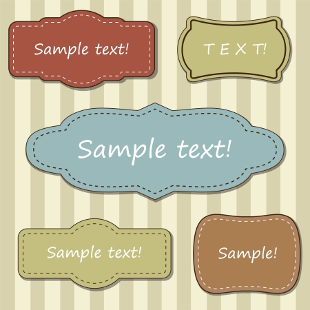 Vintage set of frames Stock Vector - 15439253