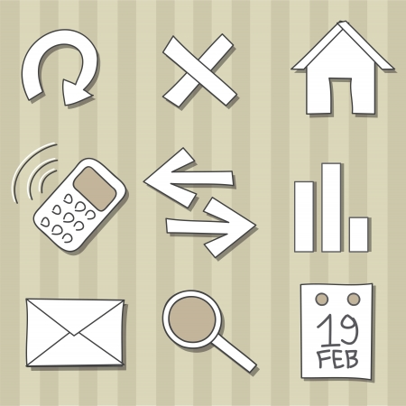Set of doodle icons Illustration