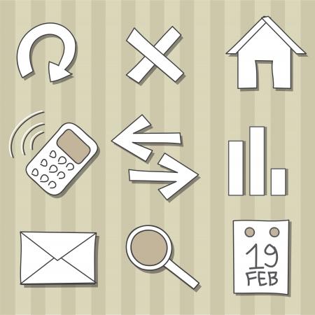 Set of doodle icons Illustration