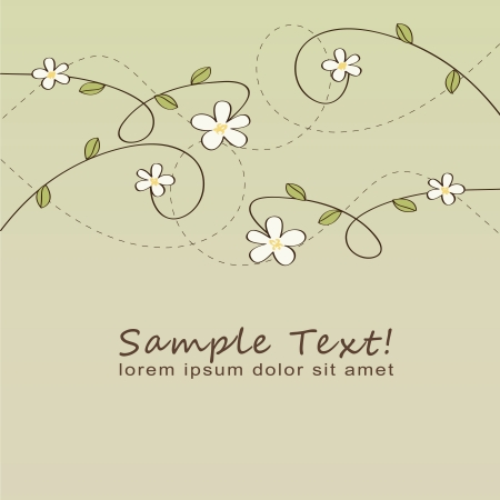 Nice illustration floral background Illustration