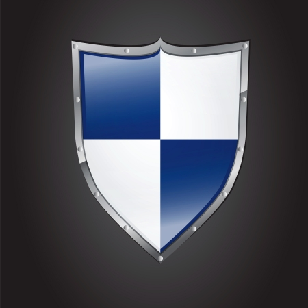 icon of shield with glossy effect