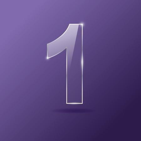 Glass number 1 on purple