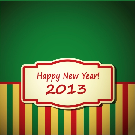 New year background with vintage frame