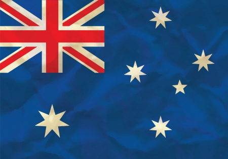 Crumpled flag of Australia