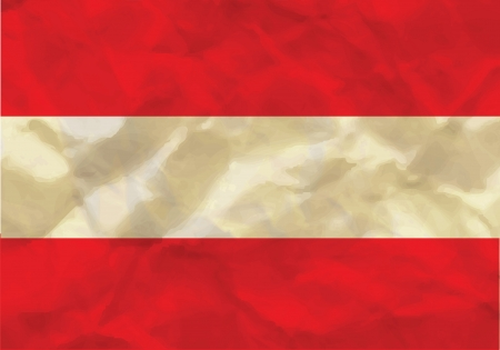 Crumpled flag of Austria