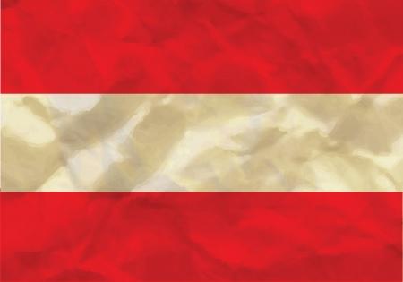 Crumpled flag of Austria