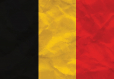 Crumpled flag of Belgium