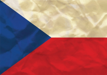 Crumpled flag of Czech Republic Illustration