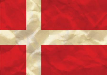 Crumpled flag of Denmark
