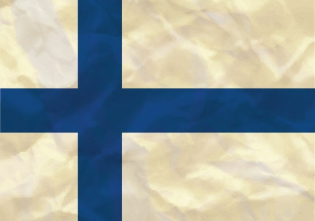 Crumpled flag of Finland