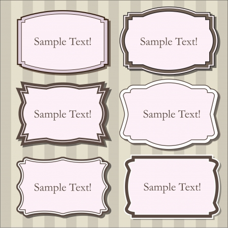 Vintage set of frames Vector