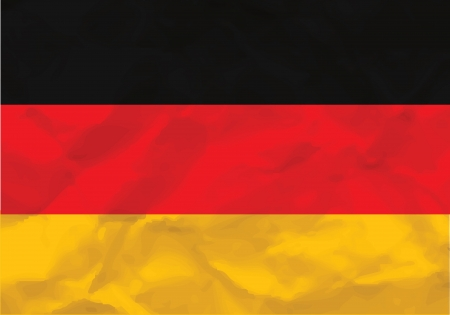 Crumpled flag of Germany