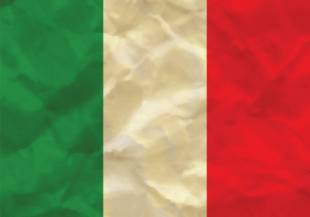 Crumpled flag of Italy