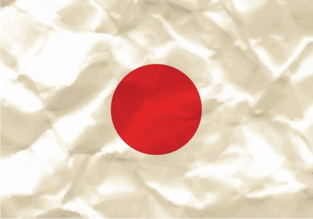 Crumpled flag of Japan