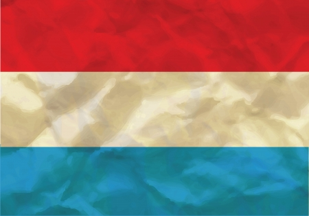 Crumpled flag of Luxembourg Vector