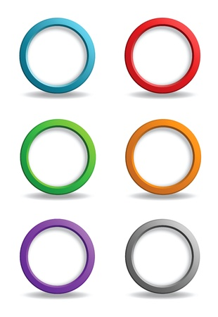 Set of colorful simple buttons