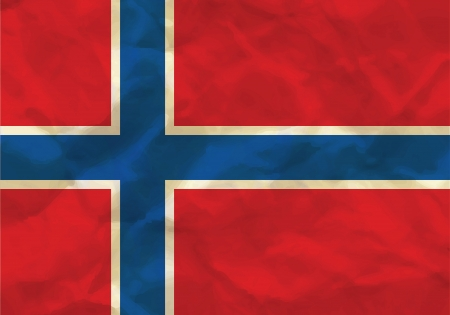 Crumpled flag of Norway