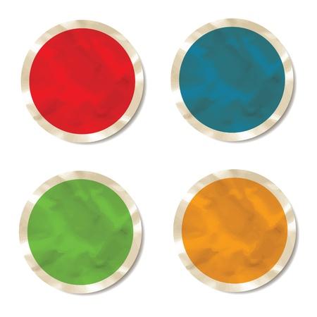 Set of crumpled stickers Illustration