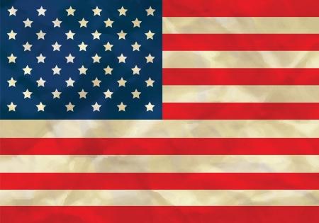 Crumpled flag of USA Illustration