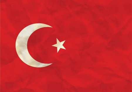 Crumpled flag of Turkey