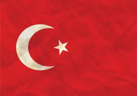 Crumpled flag of Turkey