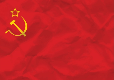 Crumpled flag of USSR