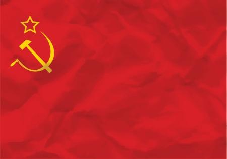 Crumpled flag of USSR