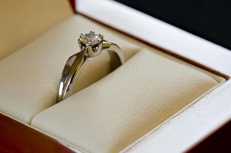 婚約指輪 写真素材